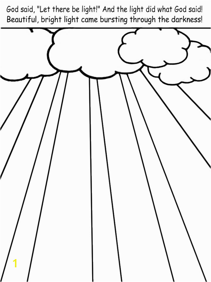 God is Light Coloring Page Printable Pictures to Color