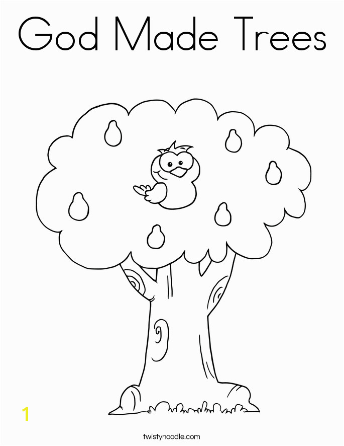 God Made Me Coloring Page God Made Trees Coloring Page Sketch Coloring Page Cmd