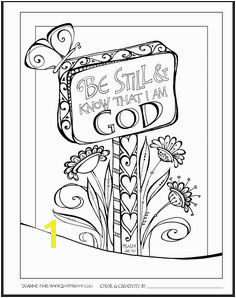Zenspirations Be Still and know that I am God Bible Coloring Pages Coloring Sheets