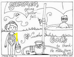 God Made the Seasons Coloring Pages 925 Best Bible Coloring Pages Images On Pinterest