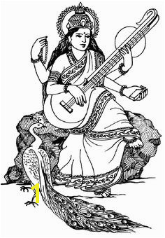 To print this free coloring page coloring india saraswati click on