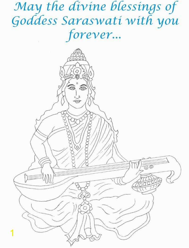 Goddess Saraswati Coloring Pages Best Saraswati Coloring Pages 21 Fresh Goddess Saraswati Coloring Pages