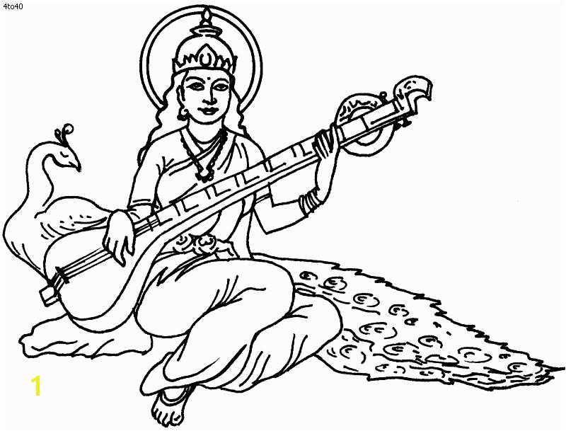 Pancha Coloring Page Saraswati Puja Coloring Page Pancha Coloring Book