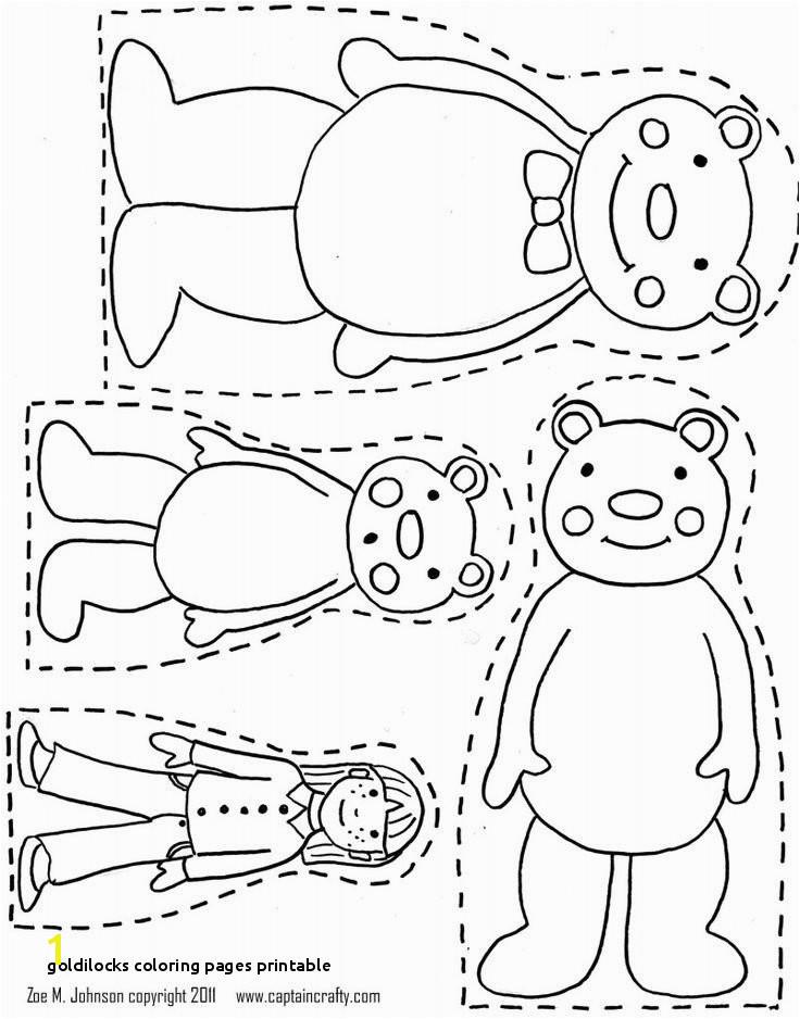 Goldilocks Coloring Pages Printable Best Free Printable