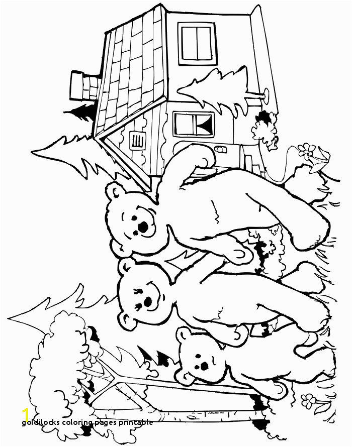 0d Coloring Goldilocks Coloring Pages Printable Goldilocks Coloring Page the Three Bears Leaving the Cottage