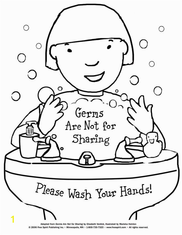 Good Manners Coloring Pages for Preschoolers Free Printable Coloring Page to Teach Kids About Hygiene Germs are