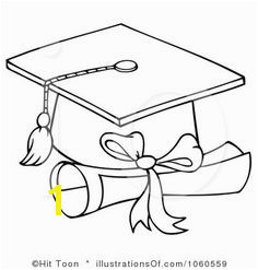 Royalty Free RF Graduation Clipart Illustration by Hit Toon Stock Sample