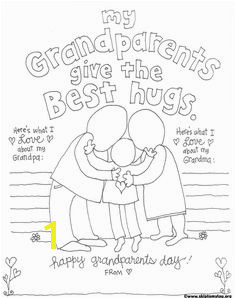 Celebrate National Grandparent s day with this free printable Grandparent coloring page What a fun way