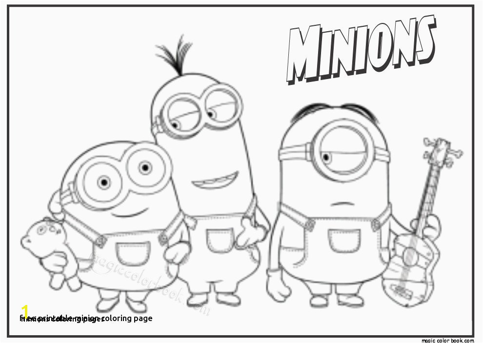 Minions Coloring Pages Coloring Pages Minion Unique Free Minion Coloring Pages Awesome 0d