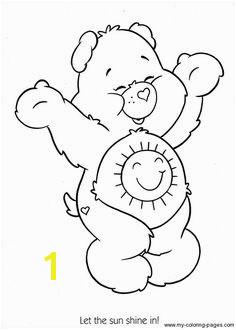 Care Bears sunshine bear Coloring printable page Mais