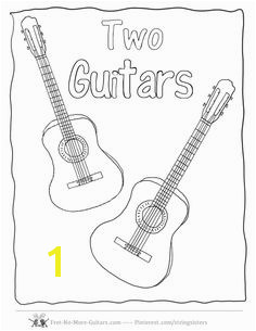 guitar Coloring Pages Acoustic Guitar at no more guitars