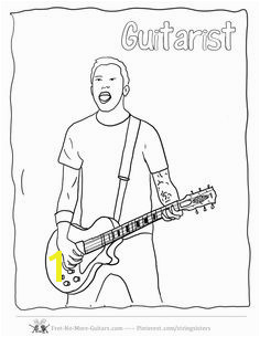 Guitar Player Coloring Pages at no more guitars guitar player coloring pagesmll free to for budding beginner guitarists Tim