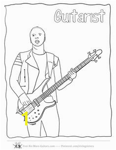 Guitar Player Coloring Pages at no more guitars guitar player coloring pagesml free to for budding beginner guitarists Christ