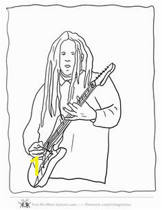 Guitar Player Coloring Pages at no more guitars guitar player coloring pagesmll free to for budding beginner guitarists Terry