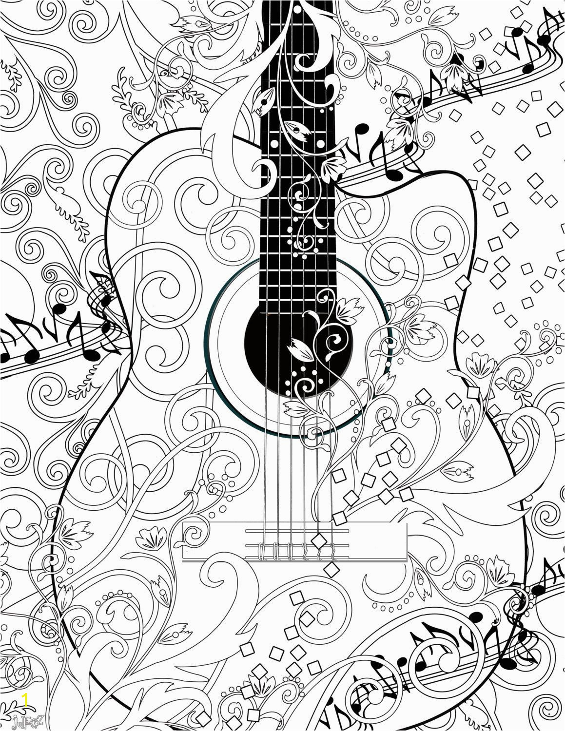 Guitar Player Coloring Page Coloring Poster Printable Music Coloring Poster Instant Download
