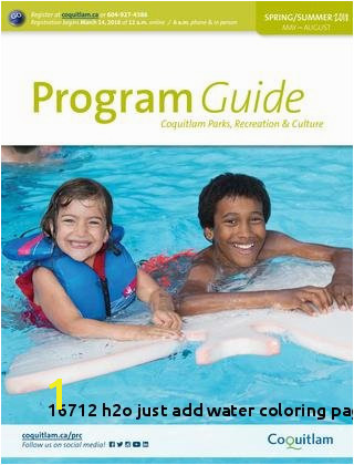 H2o Just Add Water Coloring Pages line 2018 Coquitlam Program Guide Spring Summer by City