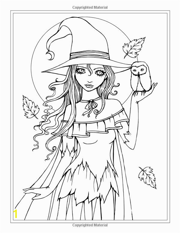 Autumn Fantasy Coloring Book Halloween Witches Vampires and Autumn Fairies… Coloring Pics