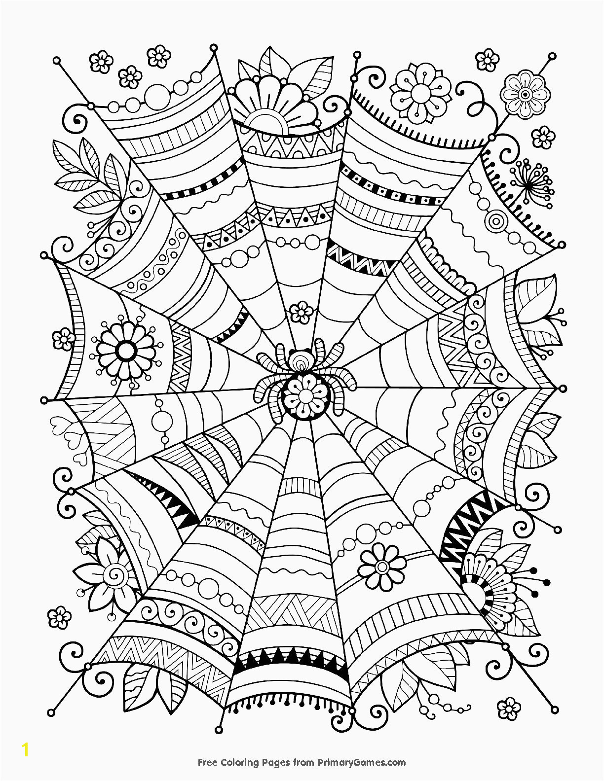 Printable halloween coloring pages a joke best of spider web coloring page elegant pin od pou