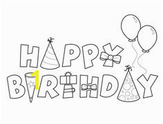 Happy Birthday Coloring Page Birthday Coloring Pages Free Birthday Doodle Happy Birthday Wishes