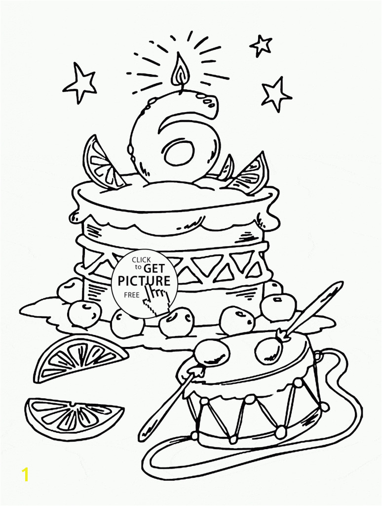 Monumental Happy 6Th Birthday Coloring Pages 6th Page For Kids
