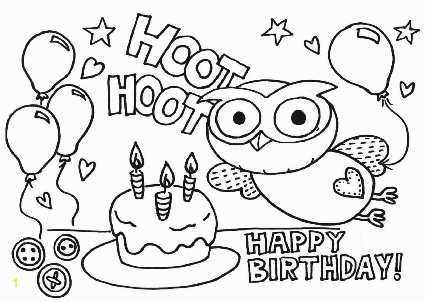 Happy 6th Birthday Coloring Pages Happy Birthday Color Pages Kiddo Shelter