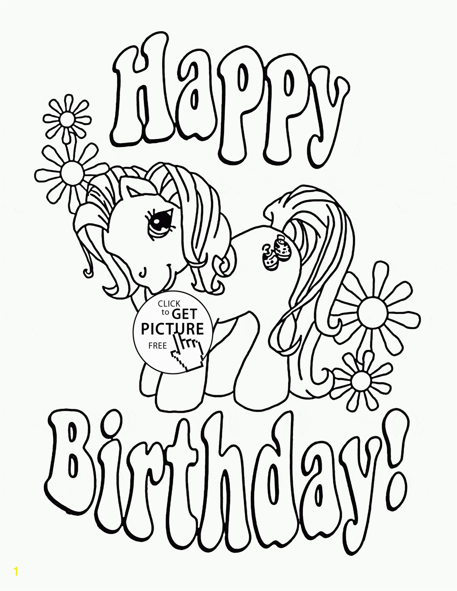 Happy Birthday Birthday Coloring Pages Printable