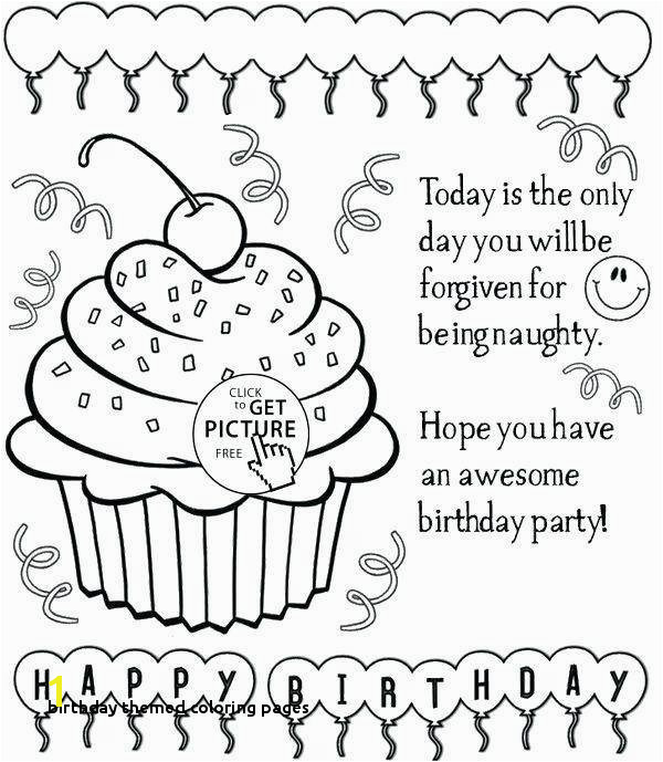 Birthday themed Coloring Pages Beautiful Happy Birthday Coloring Sheets Coloring Pages Ideas
