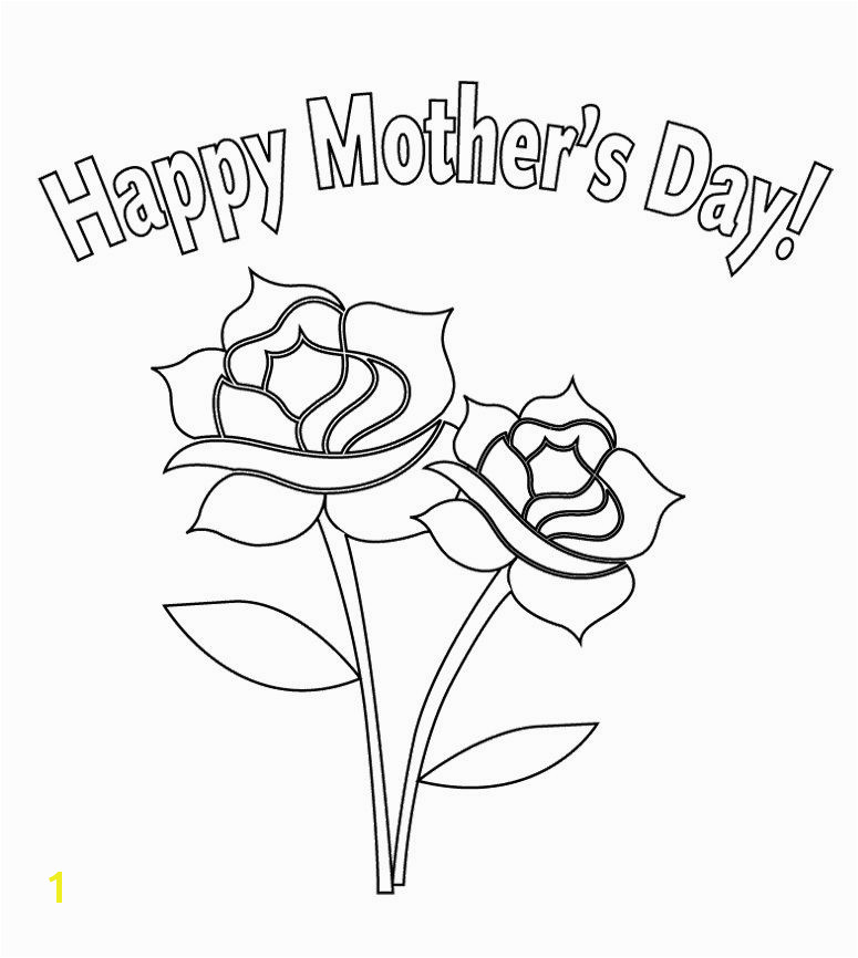 Flower For Mother s Day Coloring Page For Kids