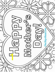 Happy Mother s Day free coloring page printable for kids