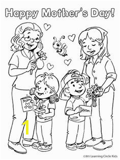 Darling Mother s Day coloring page or card for kids from Reader Bee