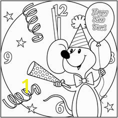 Happy New Year Coloring Pages 2018 53 Best New Year Images