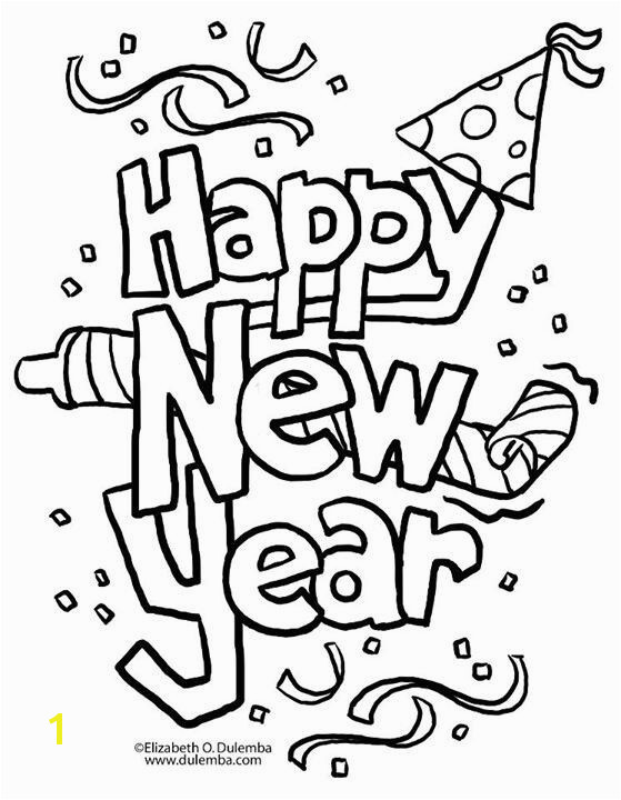 Happy New Years Coloring Pages Coloring Page Coloring Pages Pinterest