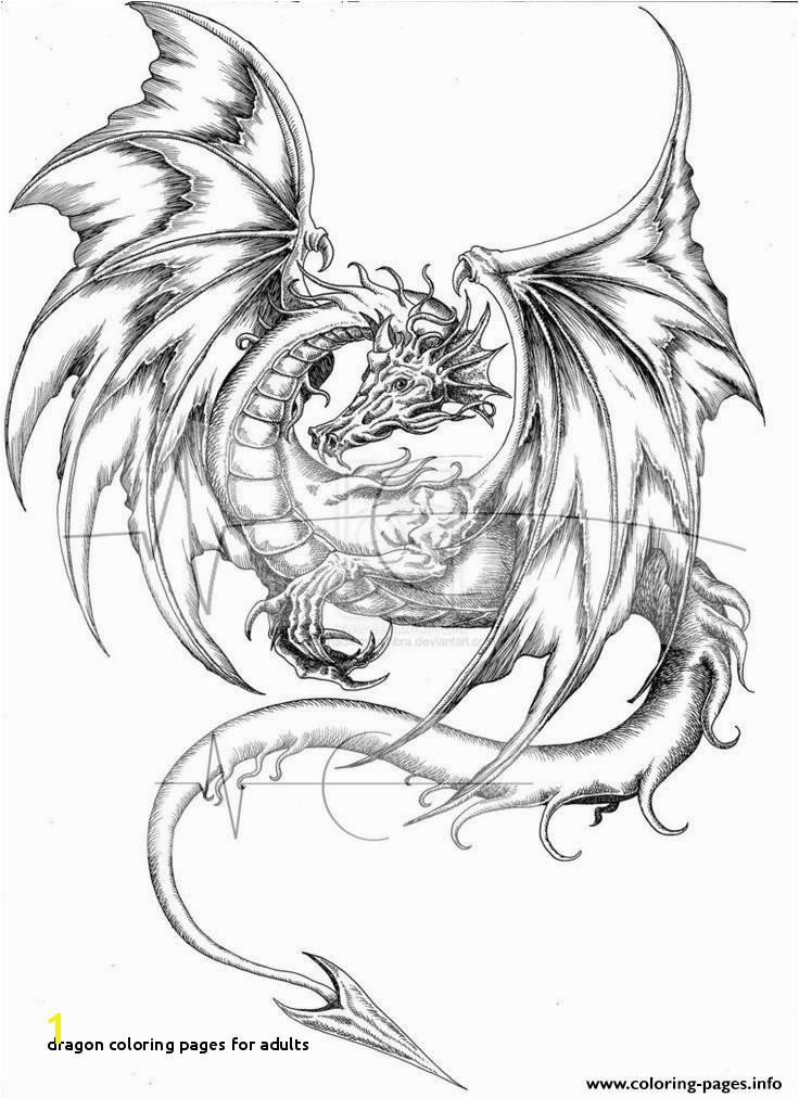 Dragon Coloring Pages for Adults Hard Coloring Pages Dragons Unique Dragon Colouring Pages Hard