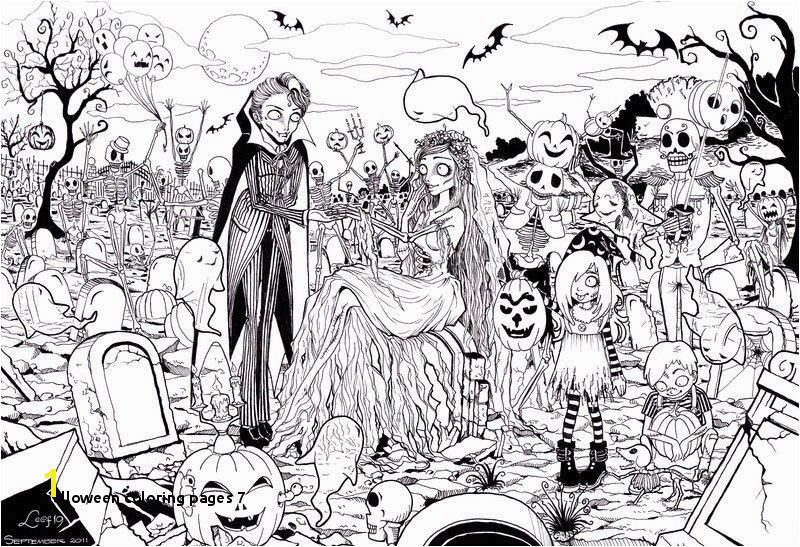 Halloween Coloring Pages 7 Free Printable Halloween Coloring Pages for Adults