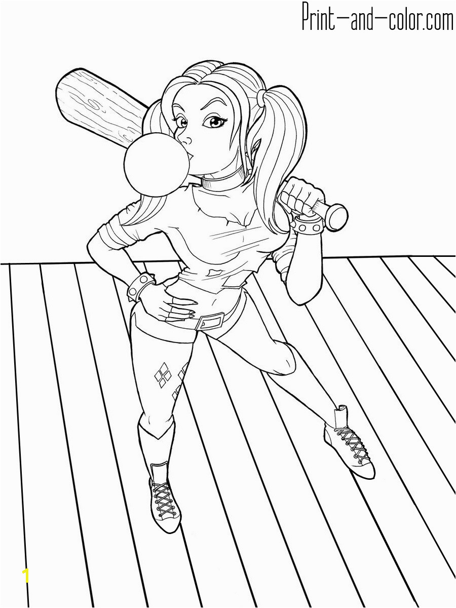 Harley Quinn coloring 3