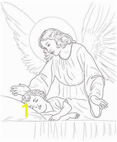 to see printable version of Guardian Angel Over Sleeping Child Coloring page Angel Coloring Pages