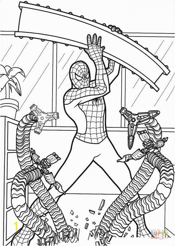Hatchet Man Coloring Pages Strong Spider Man Coloring Page