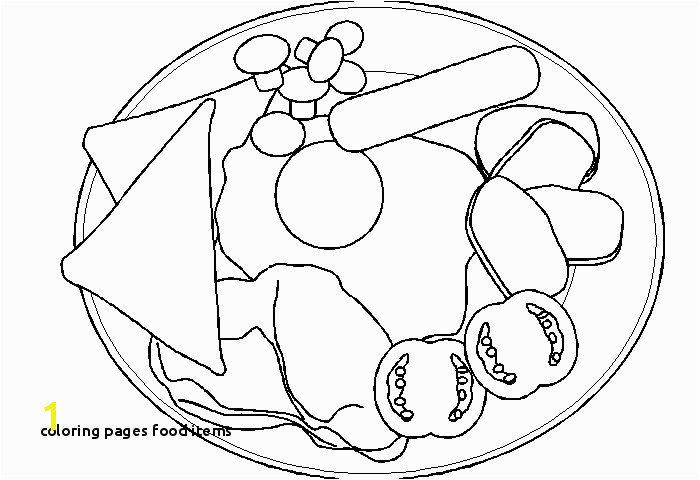 Healthy Foods Coloring Pages Coloring Pages Food Items Healthy Food Coloring Pages New