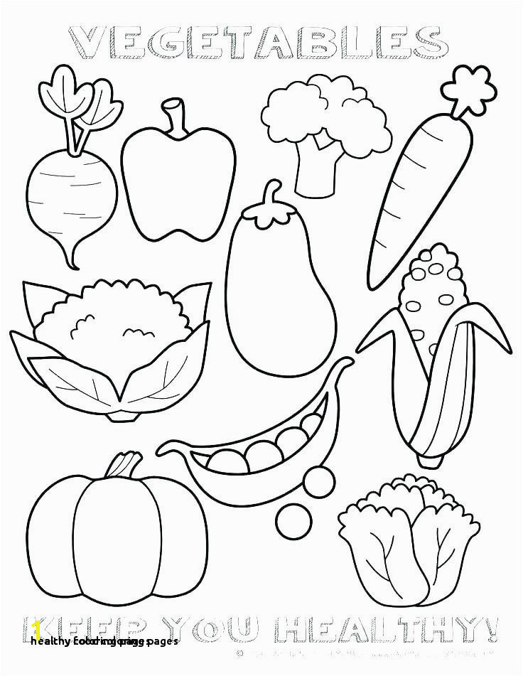 24 Healthy Food Coloring Pages
