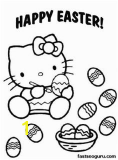 Printable Easter Hello Kitty Coloring Pages Printable Coloring Pages For Kids