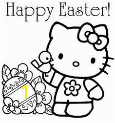 Hello Kitty Happy Easter Coloring Page Easter HelloKitty ColoringPage Earth Coloring Pages
