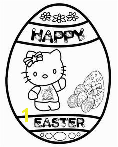 Hello Kitty Happy Easter Egg Coloring Page Easter Coloring Sheets Printable Coloring Sheets Coloring