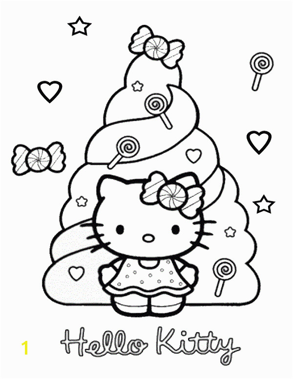 hello kitty coloring pages candy