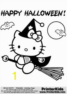 Hello Kitty Happy Halloween Fly Away Coloring Page Halloween Coloring Pages Printable Halloween