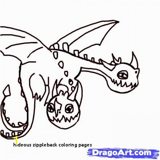 Hideous Zippleback Coloring Pages Lovely Hideous Zippleback How to