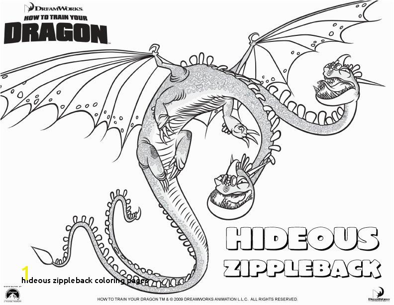 28 Hideous Zippleback Coloring Pages