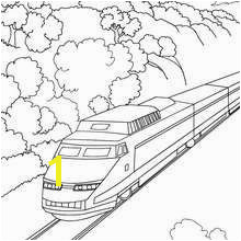High speed rail travelling in a mountain landscape Train Coloring Pages Coloring Pages For Kids