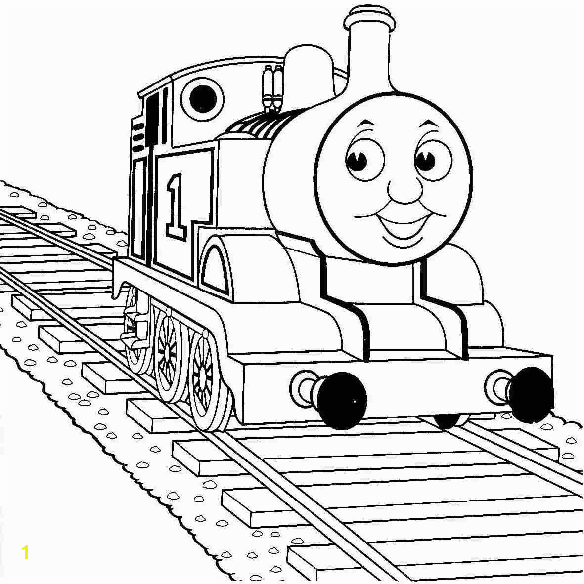 ashima train coloring Thomas The Train Coloring Page