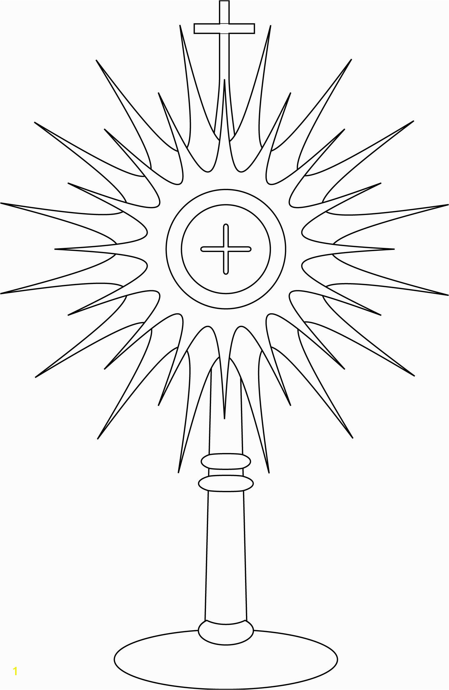monstrance coloring page Google Search