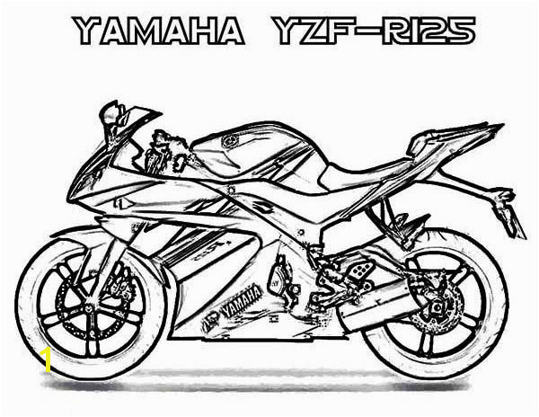 Coloring Yamaha Yzf R Motorcycle Coloring Page Pri and Swashbuckler Motorcycle Coloring Sheet Free Motorcycl Yamaha Yzf R125 Motorcycle Coloring Page